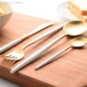 Gros-304 Couverts en acier inoxydable CUTIPOL Couverts Vaisselle Vaisselle dîner couteau fourchette cuillère - Paquet de 4pcs