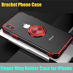 Görünmez Parmak Yüzük Araç Tutucu Standı Manyetik Dirsek Durumda iPhone Için XS XR XS Max 7 8 6 s Artı