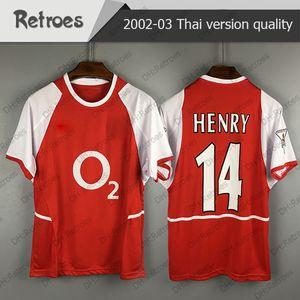 2002 2003 Retro Fußball jersey 7 PIRES 10 BERGKAMP 14 HENRY 9 REYES klassische Gedenken Antike Sammlung Fußball shirt 02 03 Hemd