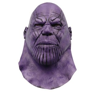 4 Endgame Infinity Thanos Maschera Infinity Gauntlet Avengers Guanti Infinity War Casco Cosplay Thanos Maschere Halloween Party Collection Puntelli