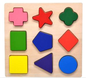 2020010973 Holz Vorschule Bunte Shape Puzzle
