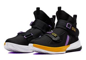 Hot Soldier 13 ventas de zapatos Lakers con la nueva tienda de zapatos James Basketball, envío gratuito US7-US12