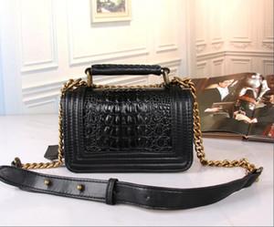 Париж модельер новый стиль 2019 женщин Крокодил шаблон сумки на ремне змея кожа камень цепи сумка замок пряжка флип сумка