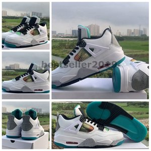 2020 New Designer Rasta 4 4s Basketball Shoes For Men Carnival Lucid Green White Leather Sport Sneakers Baskets Trainers Zapatos Size 13