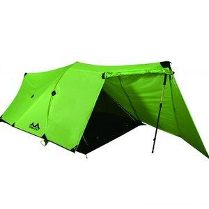 tienda de campaña HIMAGET 25D Nylon Revestimiento de silicona de excursión y camping Senderismo 2 capas doble de la persona de aluminio de aleación de Rod camping tienda que viaja 4 Seaso