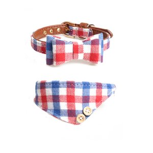 New classic designer dog collar + belt set adjustable mode leather pet collar adjustable brand cat and dog belt outdoor personality cute pet