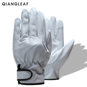 Protection Men's Work Glove D Grade Thin Leather Safety Outdoor Sport Protective Gloves Work Gloves M L XL XXL