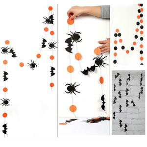 Decoración de Halloween 4 M Adornos colgantes largos para Spider Bat Calabaza Pull Flower Etiqueta de la pared DIY Bandera HH9-2319