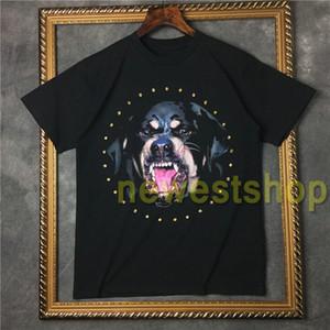 verão 2020 maré quente mens europa vestuário 3D Rottweiler camisa de impressão t camisetas hip hop diamante desenhista da camisa de t de algodão mulheres casual tops tee