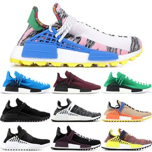 Humaine Race X Hu PW NMD Sun Glow Pack Solaire Multicolore Mère Orange Rouge Jaune Hommes Chaussures de Sport Pharell Williams Femmes Baskets 36-45