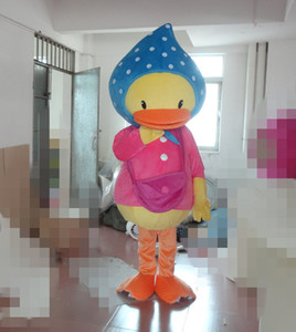 Professional custom little yellow duck Mascot Costume Cartoon Ugly duckling Character Clothes Christmas Halloween Party Fancy Dress