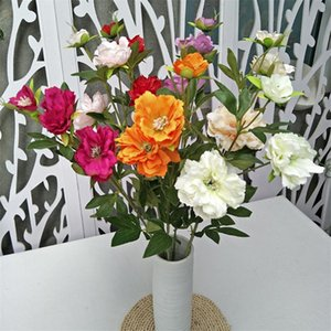 Fake Long Stem Bellflower (3 heas piece) Simulation Rhododendron for Wedding Home Showcase Decorative Artificial Flowers
