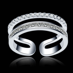 New Leaf Crystal Engagement Rings Women's Eternity Wedding Band Rings For Female Rose Gold Rings Jewelry Gifts