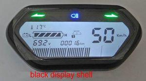 전기 스쿠터 ebike 자전거 계기판 게이지 DIY 부분 LCD 디스플레이 48v60v72v84v96v 속도계 표시 광 배터리 레벨 표시기