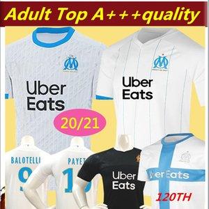 2020 New Olympique de Marseille BALOTELLI Soccer jerseys 2020 Maillot De Foot PAYET L.GUSTAVO THAUVIN 19 20 OM Home Football shirts