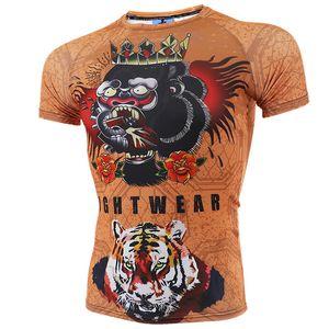VSZAP Strumpfhosen Conor Gun kurzen Ärmels MMA Kampf Sanda UFC Kampf Muay Thai Fitness T-Shirt Männer Quick Dry Kleidung