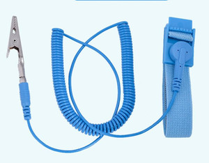 NEW مكافحة ساكنة مكافحة ساكنة ESD قابل للتعديل رباط المعصم الفرقة الأرضية كهرباء حزام الأزرق MQ100