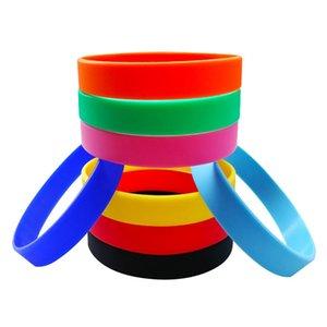 1 Pezzo braccialetti personalizzati in silicone 10 colori in gomma morbida Braccialetti 20 centimetri Wristands Bileklik Pulseira