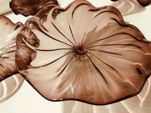 Forma de la flor de Murano Art Glass lámpara de pared de soplado placas de cristal de Murano hecha a mano la placa de cristal de la boda decorativos para las paredes