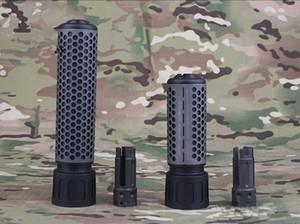 Envio rápido KAC Estilo QDC / CQB Quick Detach Freio Freio 14mm com QD Flash Kit Hider Toy Modelo de BK
