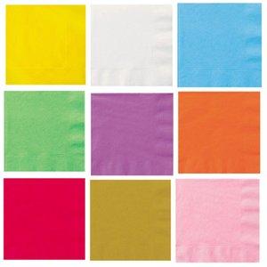 20шт Luncheon Салфетки Plain Solid Colors Birthday Party Посуда питания и напитки Салфетка servilletas де Tela guardanapo