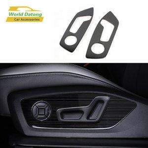Для Q3 (F3) 2019 2020 внутреннее сиденье боковая регулировка кнопка рамка крышка отделка из нержавеющей стали матовая отделка 2 шт.