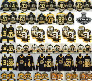 2019 2020 Nouveau Troisième Noir Bruins de Boston Zdeno Chara 33 Patrice 37 Bobby Orr 40 Tuukka Rask Krejci Brad Marchand 73 Charlie McAvoy Jersey