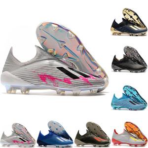 2020 en kaliteli erkek futbol ayakkabıları X 19+ FG futbol krampon X 19 Şifreleme Kod deri futbol ayakkabıları scarpe da calcio mavi