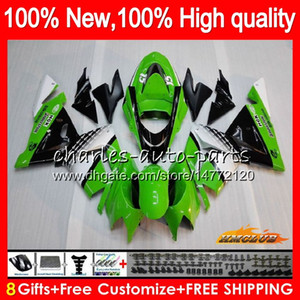 Кузов для KAWASAKI green black hot ZX 1000 CC ZX 10 R ZX-10R 04 05 кузов 43HC.14 ZX10R 04 05 ZX1000CC 1000CC ZX 10R 2004 2005 комплект обтекателя