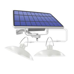 Двойной головкой Солнечный свет подвеска Крытый солнечный светильник с линии Теплый белый / белый Освещение для кемпинга Home Garden Yard