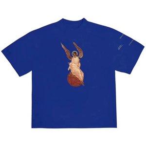 T-shirt 20ss Gesù è KING Arcangelo Tee Domenica Servizio solido di colore maniche corte estiva High Street Men T-shirt HFYMTX637