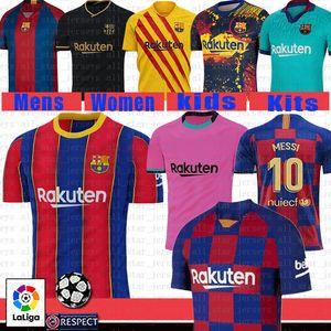 camisa de 2020 A. INIESTA GRIEZMANN F. DE JONG SUAREZ DEMBELE COUTINHO MALC MALCOM Homens crianças kit de futebol Barcelona 10 MESSI camisa de futebol