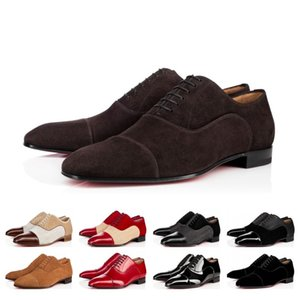 Лучшие продажи Gentleman Sneaker Red Bottom Greggo Orlato Квартиры Мужчины Женщины Walking Свадебное платье партии Роскошные Дизайнер красной подошвой обуви