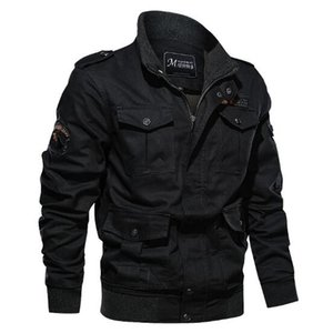 New Style Mens Jacket Spring and Autumn Large Size Plus Size Jacket Mens Multi-pocket Cargo Outdoor Casual Loose Coat with 3 Colors M-6XL
