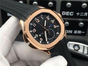 Super 57 montre Luxus automatischen Uhrwerks 316L feinen Stahlgehäusedurchmesser 40 mm Dicke 12 mm wasserdicht 50m Gummi Uhrarmband