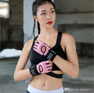 الحرة الشحن الجديدة قفازات رفع الاثقال اللياقة البدنية نصف اصبع قفازات الرياضة تنفس bracers