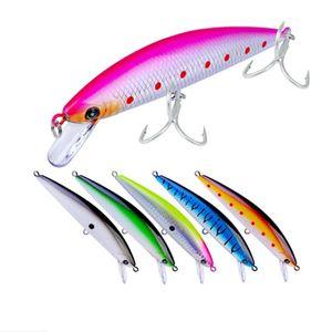 1Pcs 13cm 41g Minnow Fishing Lure Fish Wobbler Tackle Crankbait Artificial Japan Hard Bait Swim baits 2# Hooks fishing tackle