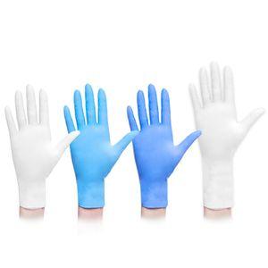 Einweg-Latexhandschuhe aus Nitril Latex-Handschuhe Left Right Hand Universal-Handschuhe 9-Zoll-Puderfreie Säureschutzhandschuh
