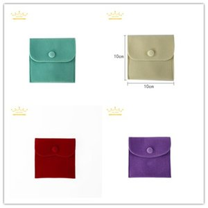 Quality Shipment Good Free Velvet 10*10cm Jewelry 8 Colors Bracelet Gift Storage Bag Package Ring Necklace Pouch Portable Box Jewel Ohust