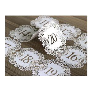 Corte láser hueca de estar Tarjetas NO.1-20 Asiento cordón hermoso Digital Card Tarjeta para la fiesta de boda romántico de eventos Artículos de HHA-427