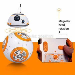 Atualizar BB8 Bola de 20,5 centímetros Estrela RC Droid Robot 2.4G controle remoto BB8 inteligente com som Robot Toy For Kids Ação Modelo