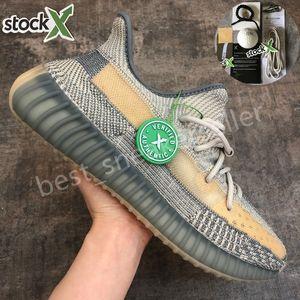 Haute Qualité 2020 Kanye West Israfil Cinder Chaussures de course Noir réfléchissant Beluga Oreo statique réfléchissant Hommes Femmes Runner Racer