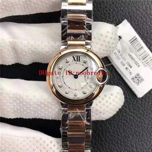 V6 Ballon Bleu DE donna di orologi svizzeri Movimento al quarzo acciaio inossidabile 316L Vetro zaffiro diamante Scala orologio 28 mm womens