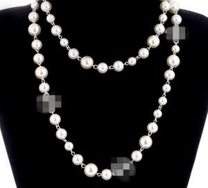Maglione della collana collana di modo NUOVE donne perla naturale multistrato collana di diamanti pendenti di cristallo Spilla Import Bridal Jewelry Bijoux