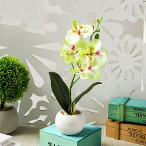 Artificial Flower Orchid Planta de vaso Phalaenopsis Casamento Casa Decor Jardim