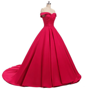 Vestido De Noiva Sleeveless Sweetheart Lace up Wedding Dress 2019 Red Ball Gown Wedding Gowns robe de mariage