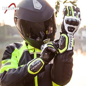Atacado VEMAR luvas de corrida de couro de fibra de carbono off-road luvas de equitação / motocicleta luvas de dedo inteiro luvas de ciclismo 4 cores M L XL XXL