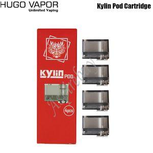 Hugo Vapor Kylin Pod Cartridge 1.2ohm regelmäßige Spule Kylin 0.6ohm MTL-Netzspule für Kylin 30W Pod Kit Original-4pcs / pack