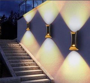 Up Down Lâmpada LED Wall COB Modern Indoor / Outdoor Waterproof Garden Wall Lamp Hotel Decoração Luz Sala Quarto TV fundo Lâmpadas.