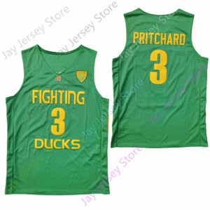 2020 New NCAA College Oregon Ducks Jerseys 3 Payton Pritchard Basketball Jersey Green Black Size Youth Adult All Stitched